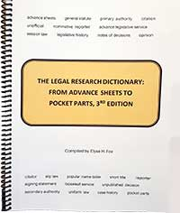 Legal Research Dictionary